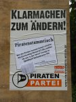 Plakat mit Zensursula-Petitions-Abreisszetteln