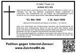 Trauerplakat Zensur